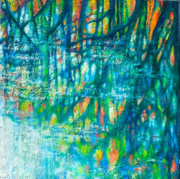 Llanerch Tree Reflection - Painting 1 copy