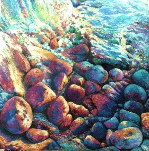 'Winter sunlight on pebbles'
